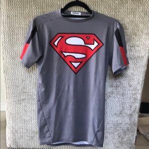 Kids UA Under Armour compression superman t
